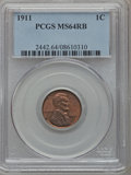 Lincoln Cents: , 1911 1C MS64 Red and Brown PCGS. PCGS Population (209/75). NGCCensus: (126/74). Mintage: 101,177,784. Numismedia Wsl. Pric...