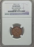 Lincoln Cents: , 1931-S 1C -- Rev Damage -- NGC Details. XF. NGC Census: (170/905).PCGS Population (331/1470). Mintage: 866,000. Numismedia...