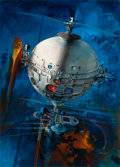 Pulp, Pulp-like, Digests, and Paperback Art, JOHN CONRAD BERKEY (American, 1932-2008). Fire Charge, 1999.Acrylic and casein on board. 25.5 x 18 in.. Signed lower ri...(Total: 2 Items)