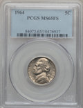 Jefferson Nickels: , 1964 5C MS65 Full Steps PCGS. PCGS Population (39/5). NGC Census:(7/9). Numismedia Wsl. Price for problem free NGC/PCGS c...