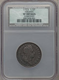 Colonials: , 1723 1/2P Hibernia Halfpenny -- Corroded -- NCS. VF Details. NGCCensus: (1/173). PCGS Population (17/425). ...