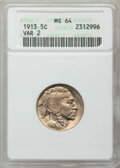 Buffalo Nickels: , 1913 5C Type Two MS64 ANACS. NGC Census: (689/392). PCGS Population(1023/729). Mintage: 29,858,700. Numismedia Wsl. Price ...