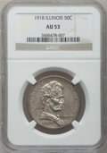 Commemorative Silver: , 1918 50C Lincoln AU53 NGC. NGC Census: (2/4027). PCGS Population(6/5919). Mintage: 100,058. ...