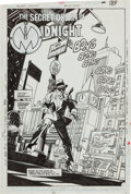 "Original Comic Art:Complete Story, Gil Kane Secret Origins #28 Complete 19-page Story ""The Origin of Midnight"" Original Art (DC, 1988). ..."