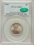 Liberty Nickels: , 1909 5C MS65 PCGS. CAC. PCGS Population (61/23). NGC Census:(58/10). Mintage: 11,590,526. Numismedia Wsl. Price for proble...