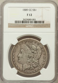 Morgan Dollars: , 1889-CC $1 Fine 12 NGC. NGC Census: (244/2703). PCGS Population(362/4125). Mintage: 350,000. Numismedia Wsl. Price for pro...