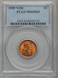 Lincoln Cents: , 1909 VDB 1C MS65 Red PCGS. PCGS Population (5017/2241). NGC Census:(3159/1548). Mintage: 27,995,000. Numismedia Wsl. Price...