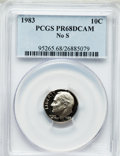 Proof Roosevelt Dimes: , 1983 10C No S PR68 Deep Cameo PCGS. PCGS Population (72/90). NGCCensus: (17/75). Numismedia Wsl. Price for problem free N...