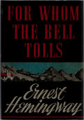 Books:Literature 1900-up, Ernest Hemingway. For Whom the Bell Tolls. Scribners, 1940.First edition, first printing without photographer's...
