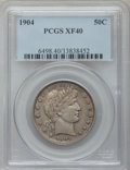 Barber Half Dollars: , 1904 50C XF40 PCGS. PCGS Population (28/197). NGC Census: (3/131).Mintage: 2,992,670. Numismedia Wsl. Price for problem fr...