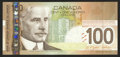 Canadian Currency: , BC-66a $100 2004 with Radar Serial Number BKJ5122215. ...