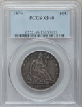 Seated Half Dollars: , 1876 50C XF40 PCGS. PCGS Population (23/375). NGC Census: (10/278).Mintage: 8,419,150. Numismedia Wsl. Price for problem f...