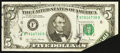 Error Notes:Foldovers, Fr. 1975-F $5 1977A Federal Reserve Note. Extremely Fine.. ...