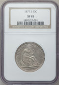 Seated Half Dollars: , 1877-S 50C XF45 NGC. NGC Census: (21/401). PCGS Population(39/424). Mintage: 5,356,000. Numismedia Wsl. Price for problem ...