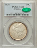 Commemorative Silver: , 1936 50C Arkansas MS66 PCGS. CAC. PCGS Population (92/8). NGCCensus: (59/6). Mintage: 9,660. Numismedia Wsl. Price for pro...