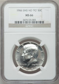 "SMS Kennedy Half Dollars, 1966 50C SMS No ""FG"" MS66 NGC. NGC Census: (105/98). PCGSPopulation (904/977). Mintage: 2,200,000. Numismedia Wsl. Pricef..."