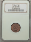 Indian Cents: , 1901 1C MS65 Red and Brown NGC. NGC Census: (171/26). PCGSPopulation (97/5). Mintage: 79,611,144. Numismedia Wsl. Price fo...