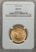 Indian Eagles, 1915 $10 MS63+ NGC....