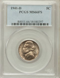 Jefferson Nickels: , 1941-D 5C MS66 Full Steps PCGS. PCGS Population (1074/144). NGCCensus: (127/36). Numismedia Wsl. Price for problem free N...