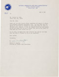 Explorers:Space Exploration, Deke Slayton 1972-Dated Typed Letter Signed Regarding Apollo 15Flown Philatelic Covers. ...