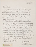 Autographs:Celebrities, Fred Haise Autograph Letter Signed....