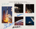 "Autographs:Celebrities, Gemini Program: ""Highlights"" Color Photo Signed by Six Astronauts...."
