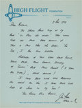 Autographs:Celebrities, Jim Irwin Autograph Letter Signed with Apollo 15 Mission andReligious Content....