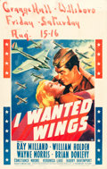"""Movie Posters:War, I Wanted Wings (Paramount, 1941). Window Card (14"""" X 22"""").. ..."""