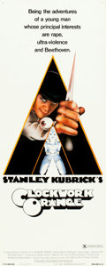 "Movie Posters:Science Fiction, A Clockwork Orange (Warner Brothers, 1971). Insert (14"" X 36"")X-Rated Style.. ..."