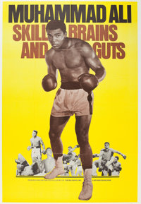 "Legends of the Ring: Muhammad Ali - Skill, Brains and Guts (Bryanston, 1975). Poster (40"" X 60"")"