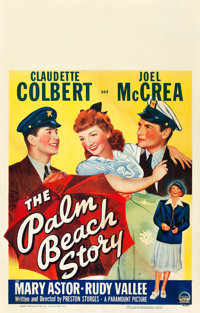 "The Palm Beach Story (Paramount, 1942). Window Card (14"" X 22"")"