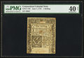Colonial Notes:Connecticut, Connecticut June 7, 1776 1s PMG Extremely Fine 40 Net.. ...