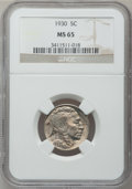 Buffalo Nickels: , 1930 5C MS65 NGC. NGC Census: (410/93). PCGS Population (1021/366).Mintage: 22,849,000. Numismedia Wsl. Price for problem ...