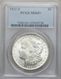 Morgan Dollars, 1921-S $1 MS65+ PCGS....