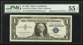 Fr. 1619 $1 1957 Silver Certificate. PMG About Uncirculated 55 EPQ