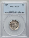 Buffalo Nickels: , 1927 5C MS65 PCGS. PCGS Population (673/287). NGC Census: (302/96).Mintage: 37,981,000. Numismedia Wsl. Price for problem ...