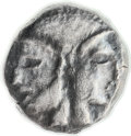 Ancients:Judaea, Ancients: Gaza (5-4 centuries BC). AR ma'ah-obol (7.1mm, 0.68 gm,6h)....