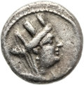 Ancients:Judaea, Ancients: Ascalon. Municipal Coinage (AD 81 - 96). AR hemidrachm(12.2mm, 1.63 gm, 12h)....