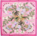 "Luxury Accessories:Accessories, Hermes Pink & Green ""Flora Graeca,"" by Niki Goulandris SilkScarf. ..."