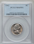 Jefferson Nickels, (3)1962 5C MS65 Full Steps PCGS. ... (Total: 3 coins)