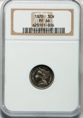 Proof Three Cent Nickels, 1870 3CN PR66 NGC....