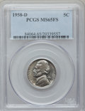 Jefferson Nickels, (2)1958-D 5C MS65 Full Steps PCGS.... (Total: 2 coins)