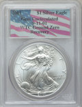 Modern Bullion Coins, 2001 $1 Silver Eagle Gem Uncirculated PCGS. Ex: 9-11-01 WTC GroundZero Recovery. PCGS Population (1/24332). NGC Census: (0...