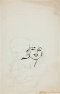 Original Comic Art:Miscellaneous, Ann Brewster (attributed) Young Romance Cover PencilPreliminary Original Art (c. 1955)....