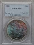 Morgan Dollars: , 1883 $1 MS64 PCGS. PCGS Population (8209/4751). NGC Census:(8872/4801). Mintage: 12,291,039. Numismedia Wsl. Price for pro...