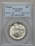 Commemorative Silver: , 1937-D 50C Oregon MS66 PCGS. PCGS Population (1152/623). NGCCensus: (899/582). Mintage: 12,008. Numismedia Wsl. Price for ...