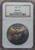 Morgan Dollars: , 1882 $1 MS64 ★ NGC. NGC Census: (6211/1400). PCGS Population(4803/1435). Mintage: 11,101,100...