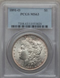 Morgan Dollars: , 1891-O $1 MS63 PCGS. PCGS Population (2094/1460). NGC Census:(1486/1086). Mintage: 7,954,529. Numismedia Wsl. Price for pr...