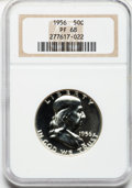 Proof Franklin Half Dollars: , 1956 50C Type Two PR68 NGC. NGC Census: (2404/356). PCGS Population(631/28). Mintage: 669,384. Numismedia Wsl. Price for p...