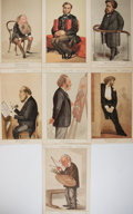 Books:Prints & Leaves, [Vanity Fair]. Seven Color Plates of Gentlemen. Extracted fromVanity Fair magazine, 1870-1873. Approx. 14.5 x 9.5 inche...